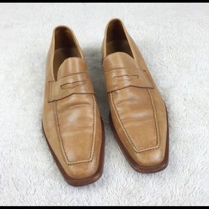 Ermenegildo Zegna Couture Tan Loafers Shoes